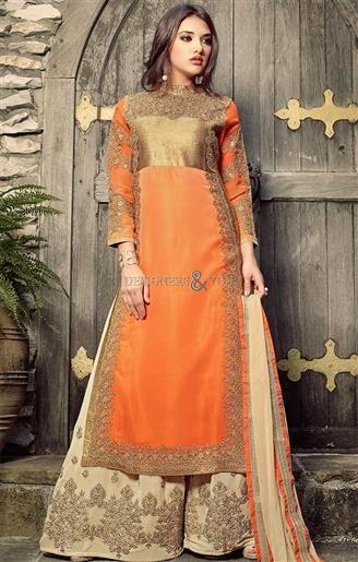Beguiling Beige Contemporary Net N Satin Punjabi Salwar Kameez   #IndianDesigns #IndianPunjabiWear #PunjabiStyles #PunjabiDesigns #Colorful #Fashionable #DesignerCollection #TrendyWear #Like4Like