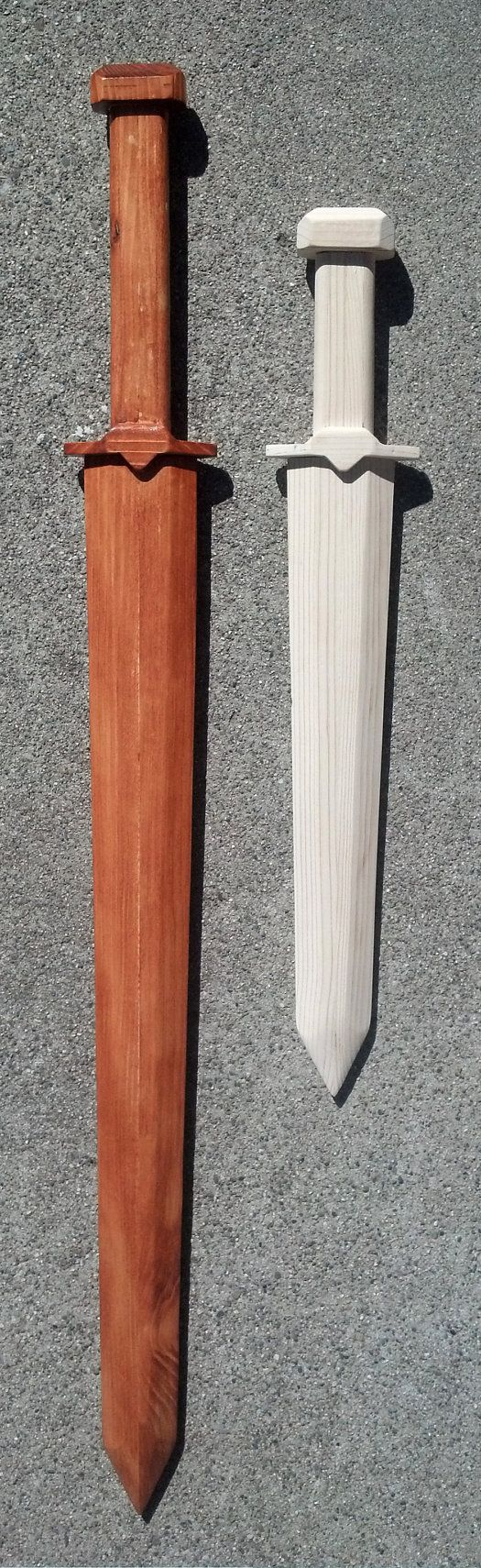 Wooden Long and Short Sword Raw or Stained by ChristopherMUnger, $25.00