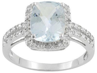 aquamarineBling, Diamonds Gallery, Aquamarines Rings, Anniversaries Rings, Alti Aquamarines, Jewelry, White Gold Rings, Aquamarines Mi Birthstone, 275Ct Cushions