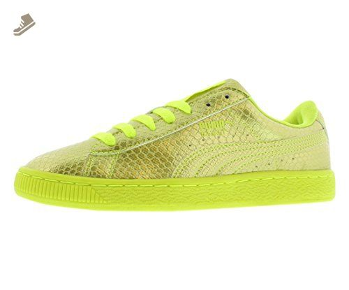 PUMA Women's Basket Future Minimal Wn's Fashion Sneaker, Safety Yellow, 7 M  US -