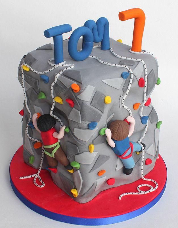 climbing wall cake   by Hannah Loves Cake