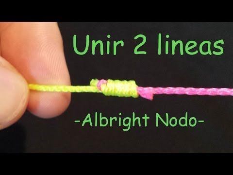 Albright Nodo Unir dos lineas paso a paso | Nudos de Pesca - YouTube