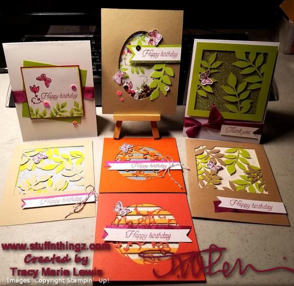 Stampin' Up! Alternatives - Paper Pumpkin December 2017 - Flora and Flutter | Tracy Marie Lewis | www.stuffnthingz.com