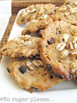 No sugar please...: Biscotti al farro soffiato e gocce di cioccolato