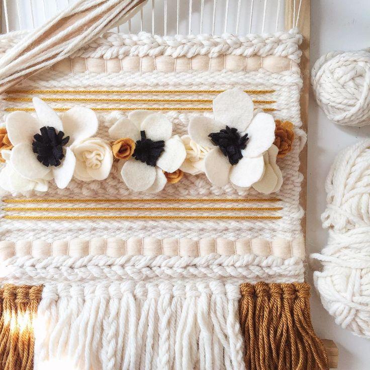 ✨fall + felt + flowers + weaving ✨