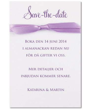 Save-the-date kort, Lovely Lilac. #calligraphenwedding #calligraphendetails #wedding #bröllop #savethedate #bröllopskort #lila #lilac