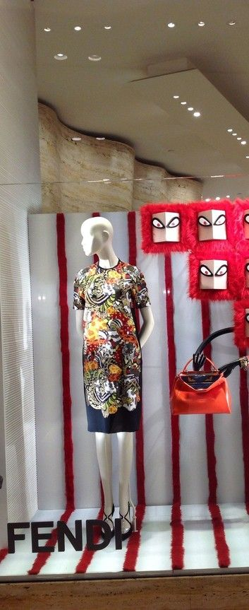 Fendi shop window in Dubai mall!