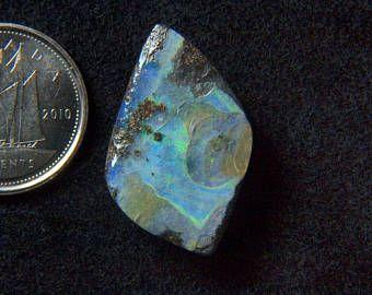 Beautiful 12.67CT Australia polished boulder opal cabochon