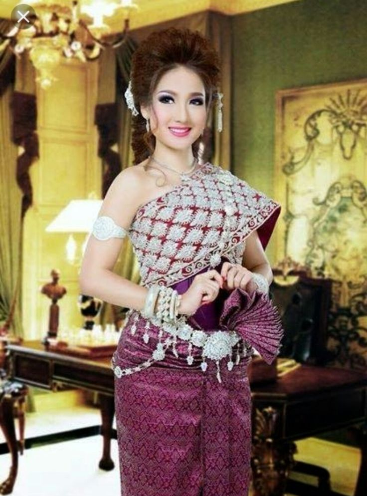 89 best images about cambodian dress on pinterest for Khmer dress for wedding party