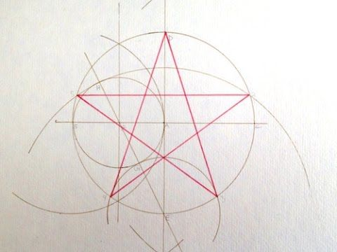 241 best geometric drawing images on pinterest geometric drawing pentagram construction geometric ccuart Images