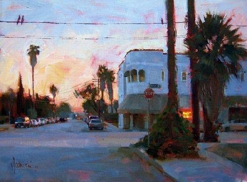 'Hillhurst Ave. Dusk' by Jennifer McChristian Oil ~ 11 x 14