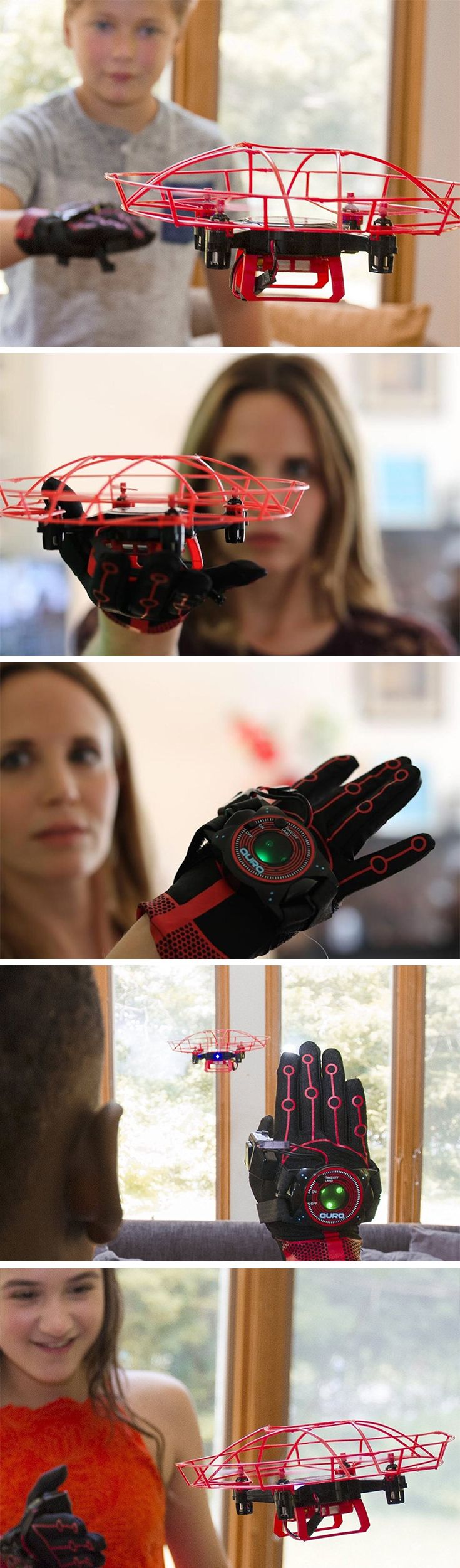 The KD Aura Interactive Gesture Drone does exactly what you think it does. It ditches the remote for gesture control. The drone comes with a glove that tracks your hand movements and even gestures that help send controls to the drone. Feeling almost like telekinesis (Jedi mind-tricks?), the glove offers control so smooth and intuitive, it's far easier to use than a remote. BUY NOW!