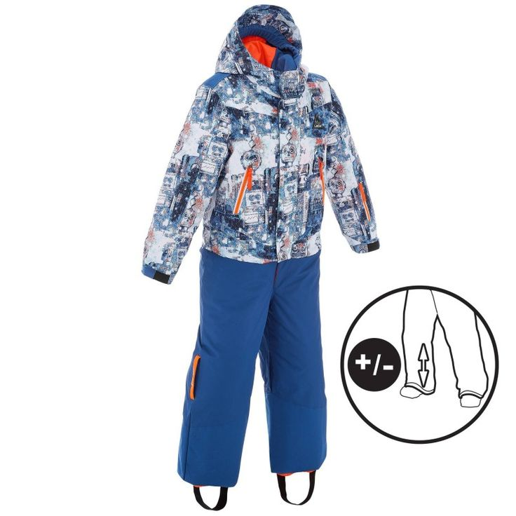 GROUPE 5 Ski, Snowboard, Ski de fond - COMBI SKI 300 PNF KID BL ROBOT WED'ZE - Vêtements de ski enfant