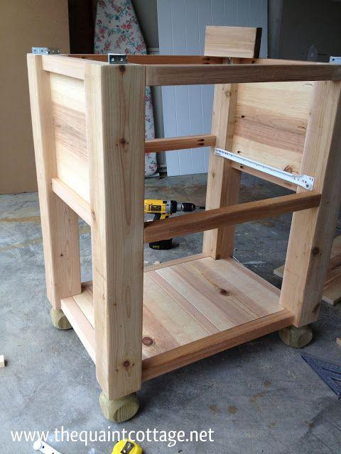 bath vanity construction plans woodworking projects plans. Black Bedroom Furniture Sets. Home Design Ideas