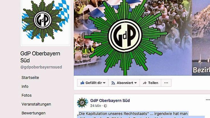 Es dürfte eines der umstrittensten Postings werden, das je von Polizeibeamten in Deutschland auf Facebook veröffentlicht wurde: Die Gewerkschaft der Polizei, Sektion Oberbayern Süd findet, in Deutschland dürfe jeder machen, was er will – außer die Deutschen.