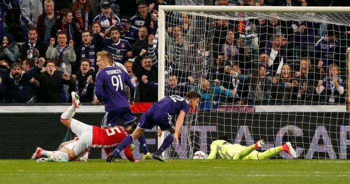 Manchester United shared the Europa League quarterfinal first leg spoil with Anderlecht