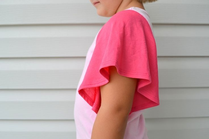 How to add flutter sleeves to a tank top.