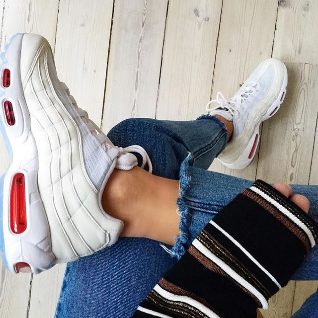 Love my new customized Nike Air Max 95 #nikeid #nikeairmax95 Nike