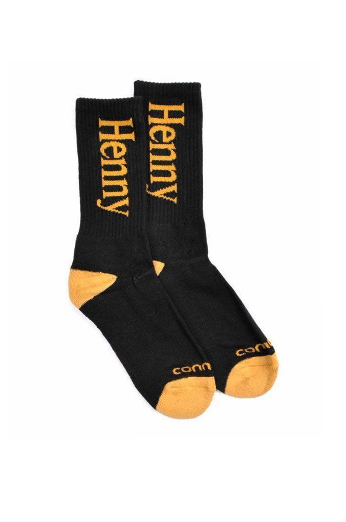 Connetic  Henny 2  Socks - The Henny 2 Socks from Connetic feature a HENNY  jacquard logo on a mid-calf crew sock. 62ca255297f8