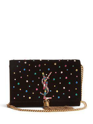 Kate small crystal-embellished cross-body bag | Saint Laurent | MATCHESFASHION.COM