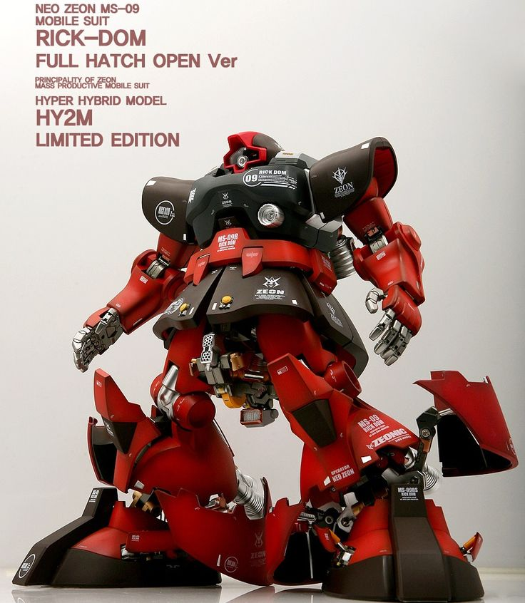 Tumblr: gunjap:  HY2M Limited Edition Rick-Dom Full Hatch Open Ver. Latest Work by ACOUSTIC. Full Photo Review http://www.gunjap.net/site/?p=270292