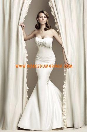 Simone Carvalli robe 2012 ivoire sirène broderie robe de mariée satin