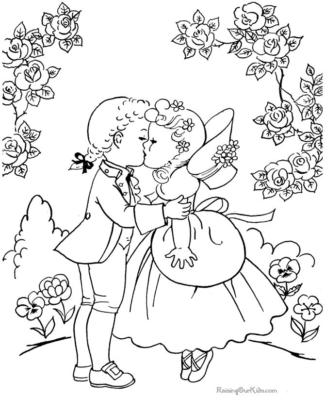 older valentines day coloring pages - photo#1