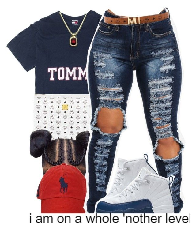 """""""MOOD"""" by fashionkilla-lex ❤ liked on Polyvore featuring MCM, Polo Ralph Lauren and NIKE"""