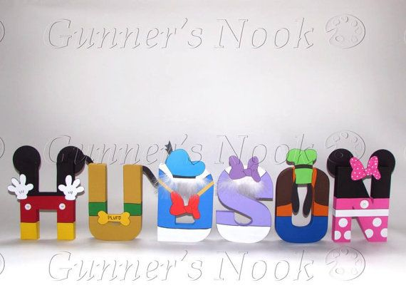 SALE Mickey Mouse Clubhouse Character Letter Art by GunnersNook