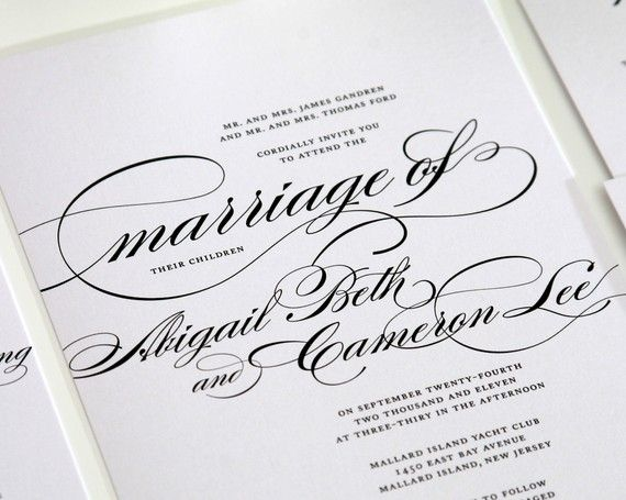 Custom Wedding Invitations in Black and White  by shineinvitations, $6.50