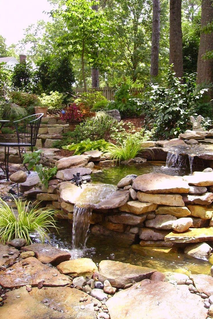 Top 17 Brick & Rock Garden Waterfall Designs