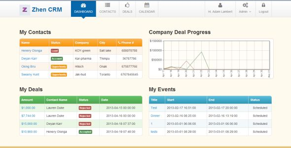 Zhen CRM . View Zhen CRM documentation (and latest version) here