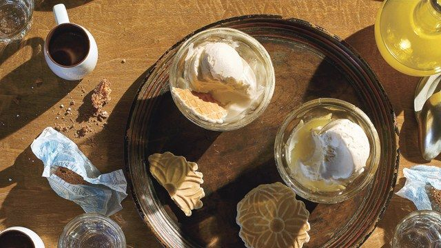 Limoncello isn't just a digestif; dare we say we actually prefer it as a gelato flavor? - 6th course