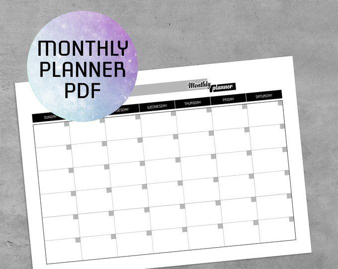 Daily Planner Printable Pdf Bullet Journal Template Planner
