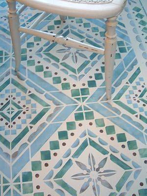 Mediterranean Stencils Mediterranean Floor Tile Stencil