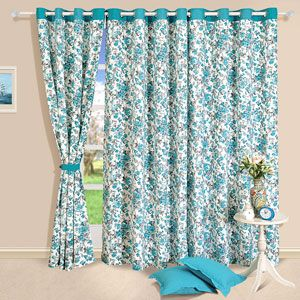 An all over floral blue design on your curtain - Certain to bring in a rush of freshness to the room. Rs 899/- http://www.tajonline.com/gifts-to-india/gifts-HAP309.html?Aff=pint2014/