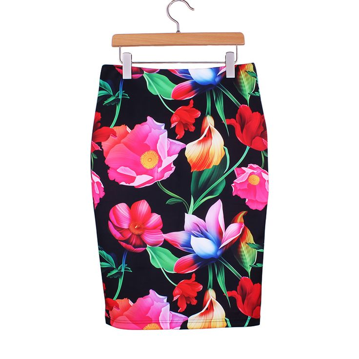 Cheap flowers delivery free shipping, Buy Quality flower net directly from China skirt orange Suppliers: M-XXL women slim skirts 3D flower print 2016 fashion girls pencil faldas vogue ladies new casual bottoms wholesale free shipping