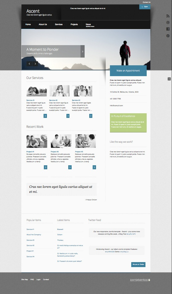 Ascent Responsive Joomla Template for JomSocial