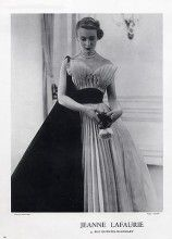 Jeanne Lafaurie 1951 Evening Gown, Fashion Photography Skilford