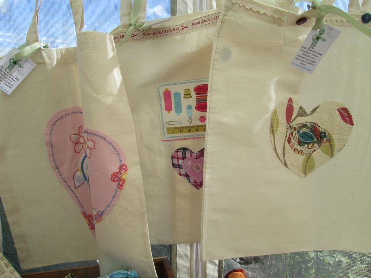 Our decorated shopping bags - each one is unique.  A real element to plastic carrier bags on our beautiful island.