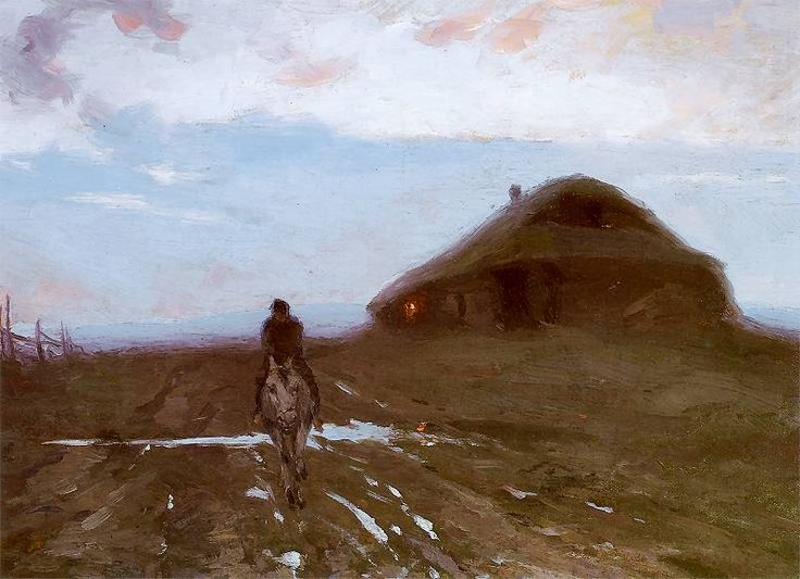 Ferdynand Ruszczyc - Karczma przy drodze, 1896