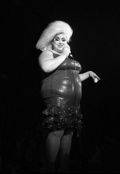 Divine performing at Heaven nightclub, London, 1981. Photo: David Corio