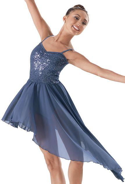 Contemporary  Weissman™ | Sequin Asymmetrical Skirt Dress