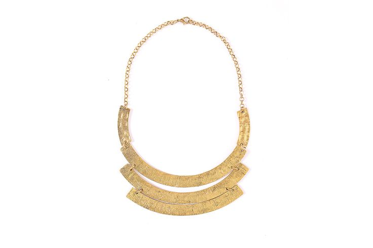Gold statement necklace, gold bib necklace, gold wedding necklace by TheFashionBandits on Etsy https://www.etsy.com/listing/168697571/gold-statement-necklace-gold-bib