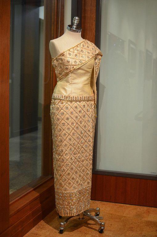 Beautiful silk dress, love the details