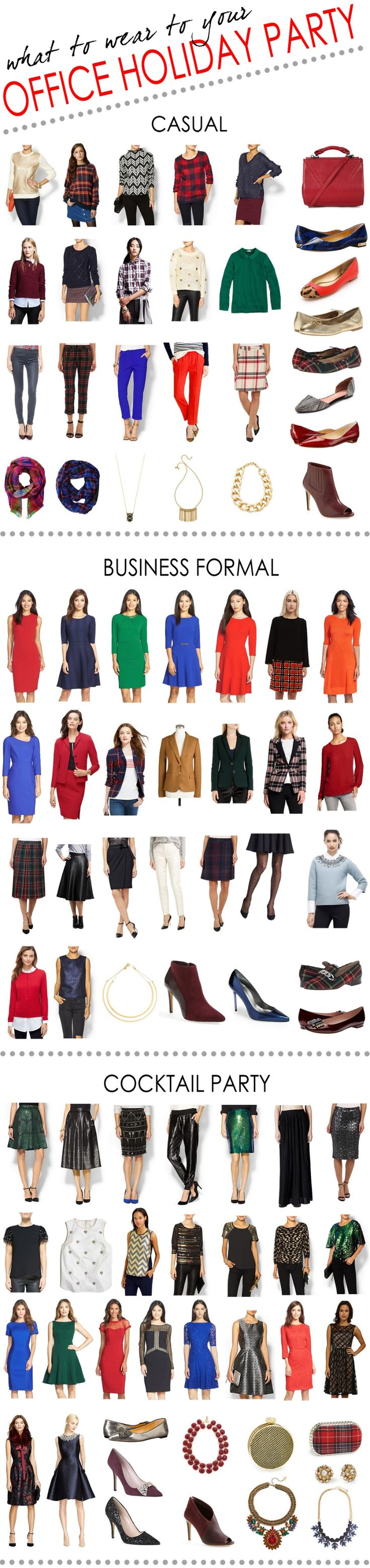 the ultimate guide to office holiday party attire! all products are linked to...