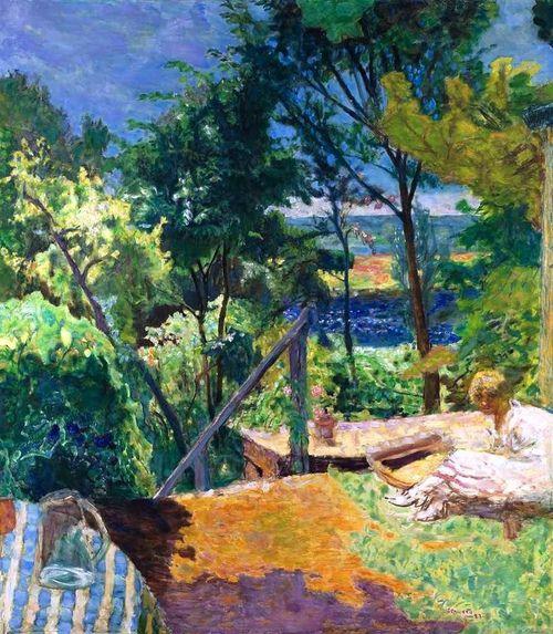 Terrasse à Vernon, Pierre Bonnard