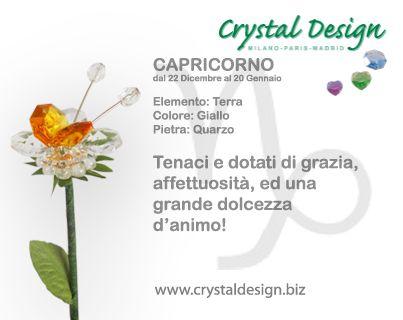 #Capricorno #crystaldesign
