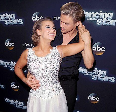 Bindi Irwin and Derek Hough attend 'Dancing with the Stars' Season 21.