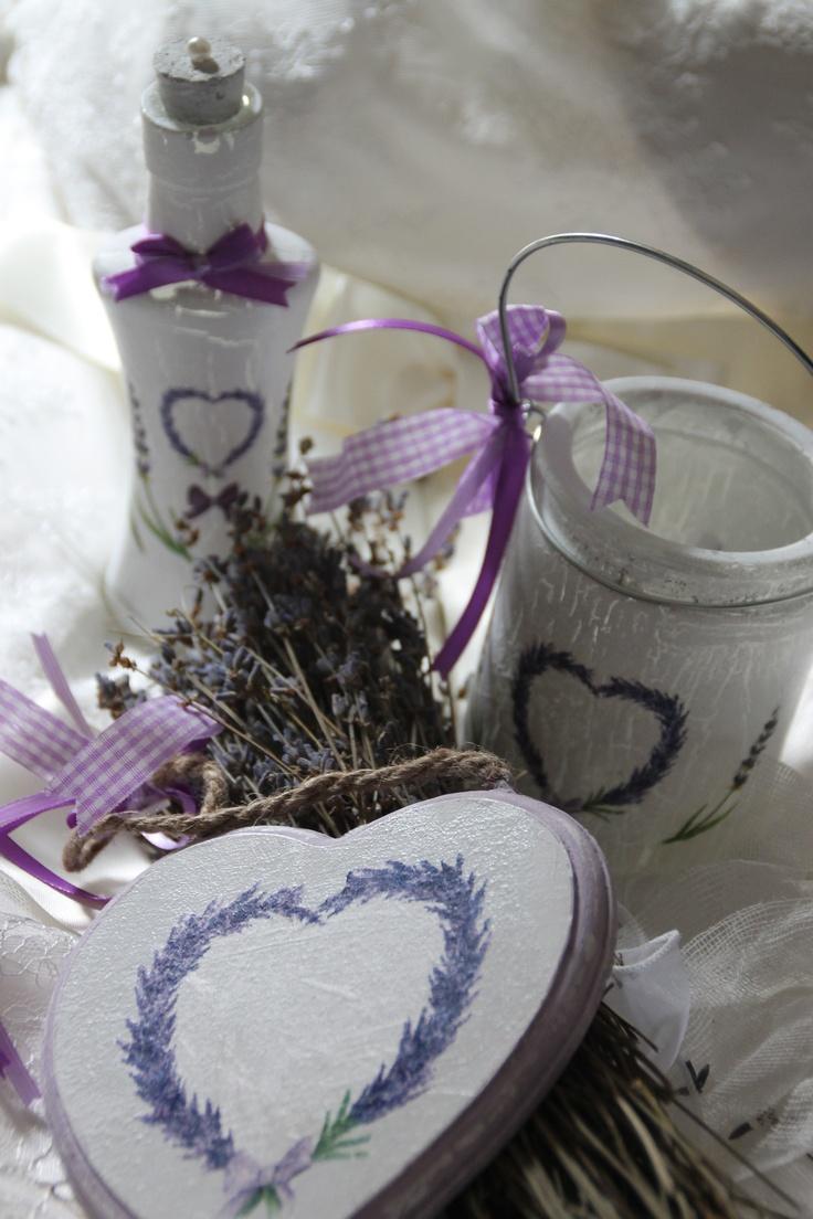 Lovely Lavender Wedding Ideas #handmade #decoupage  www.antigonibisaraki.gr